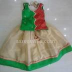 Gold Tissue Kota Designer Lehenga