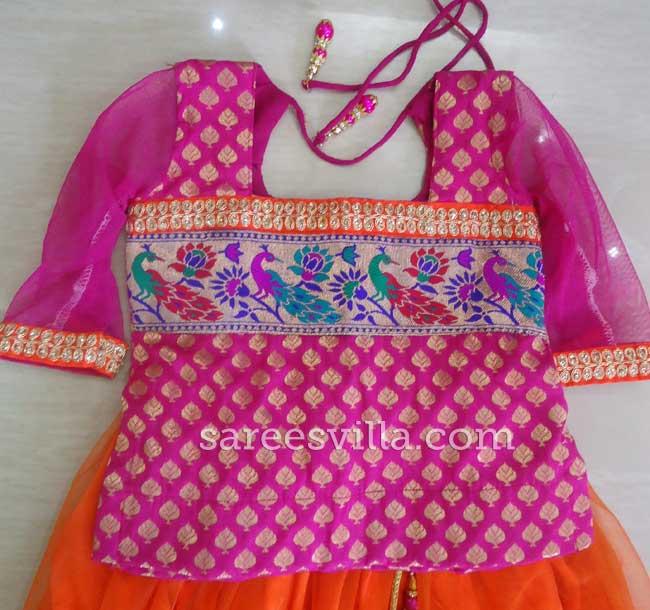 Pink Banaras Designer Blouse
