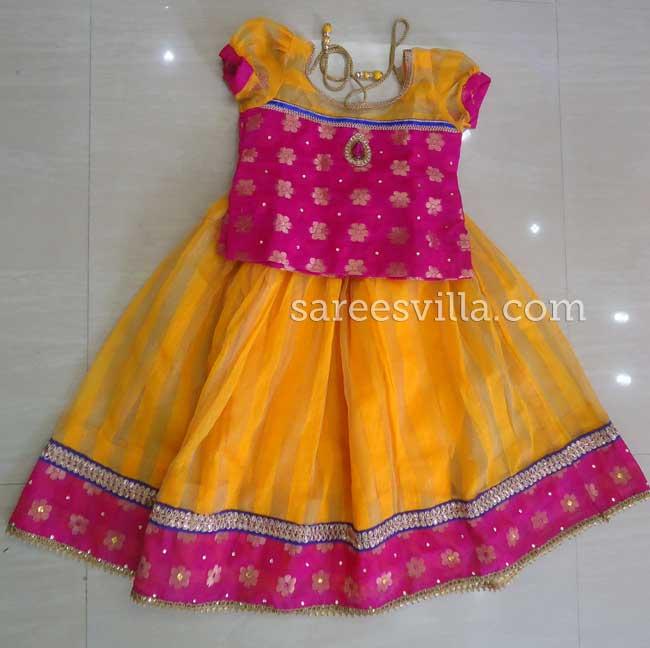 Yellow & Pink Designer Lehenga